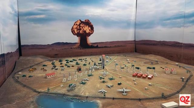 Панорама в курчатовском музее ядерного взрыва на Семипалатинском полигоне.