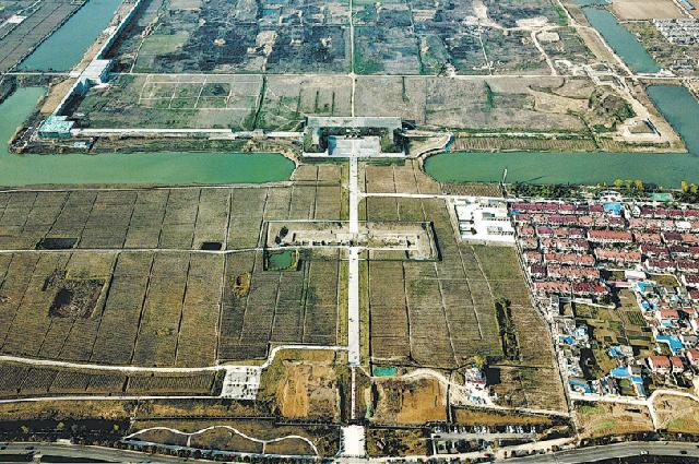 Место раскопок Чжунду в уезде Фэнъян, провинция Аньхой.