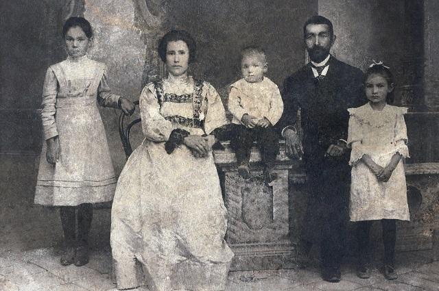 Семья Василия Рюкбейля в Джаркенте.