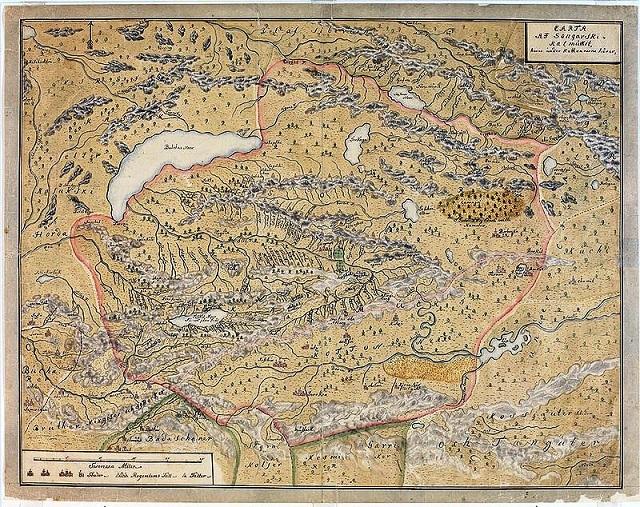Редкая карта Джунгарии.