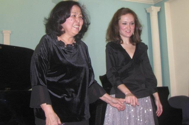 Гульжамиля Кадырбекова и Майа Сепп