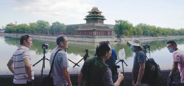 Башня Музея императорского дворца возвышается над популярной достопримечательностью столицы.